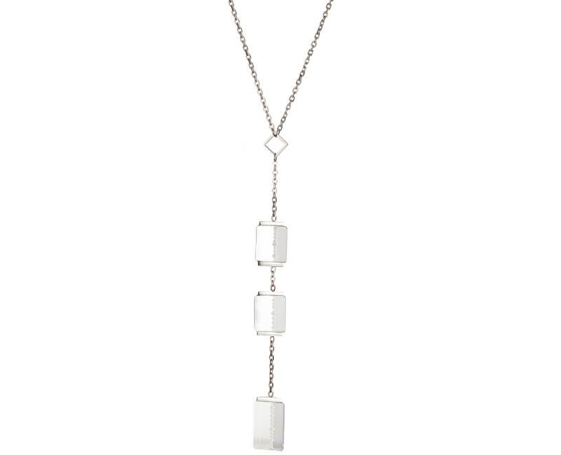 Preciosa Oceľový náhrdelník Crystal Excellence 7268 00
