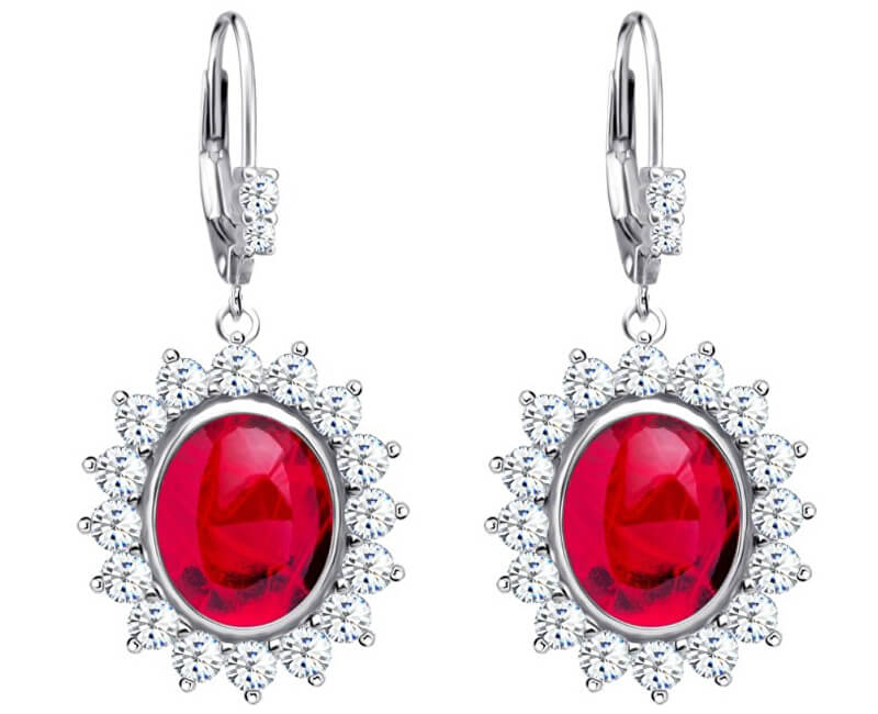 Preciosa Stříbrné náušnice Camellia 6107 63