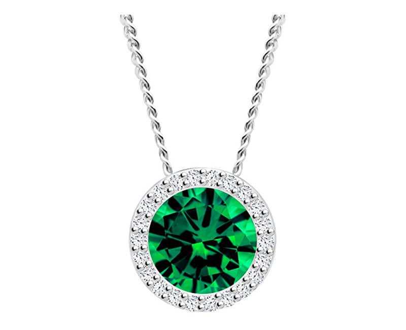 Preciosa Stříbrný náhrdelník Lynx Emerald 5268 66 (řetízek, přívěsek)