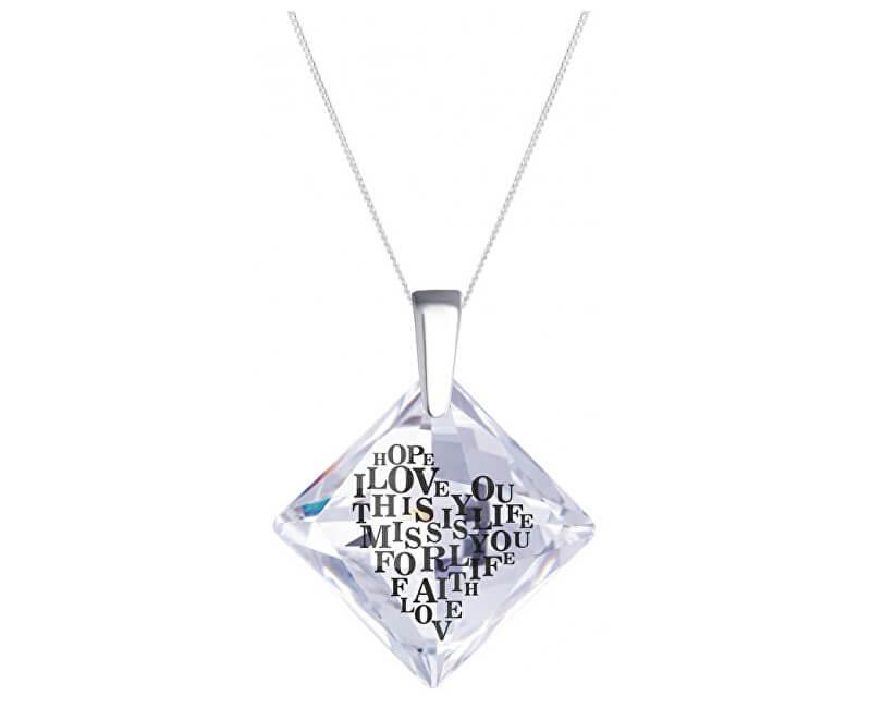 Preciosa Strieborný náhrdelník s kryštálom Libi 6061 00 (retiazka, prívesok)