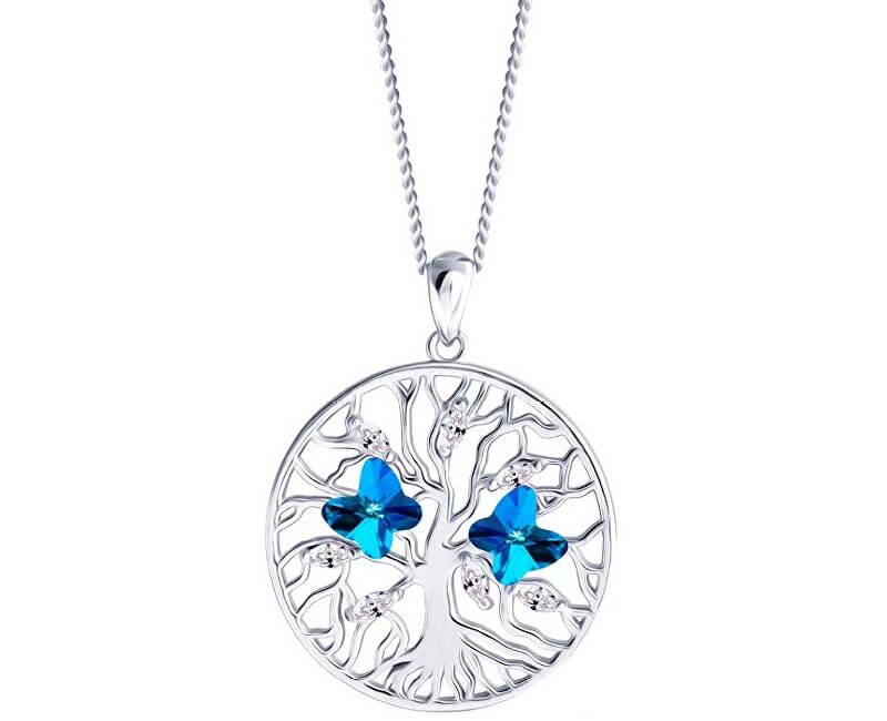 Preciosa Stříbrný náhrdelník s krystaly Tree of Life 6072 46 (řetízek, přívěsek)