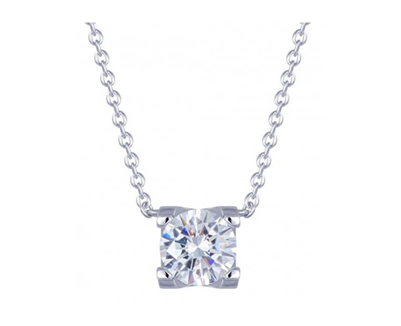Preciosa Strieborný náhrdelník so zirkónom Elena 5180 00