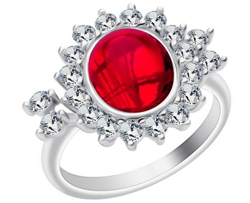 Preciosa Stříbrný prsten Camellia 6108 63