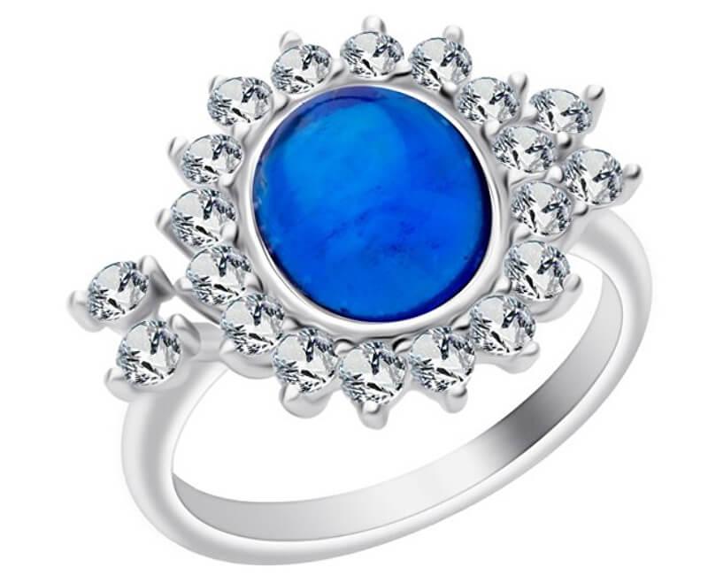 Preciosa Stříbrný prsten Camellia 6108 68