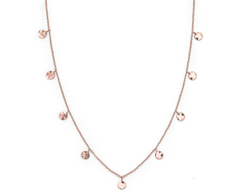 Rosefield Růžově pozlacený ocelový náhrdelník s penízky Iggy JTCWR-J097