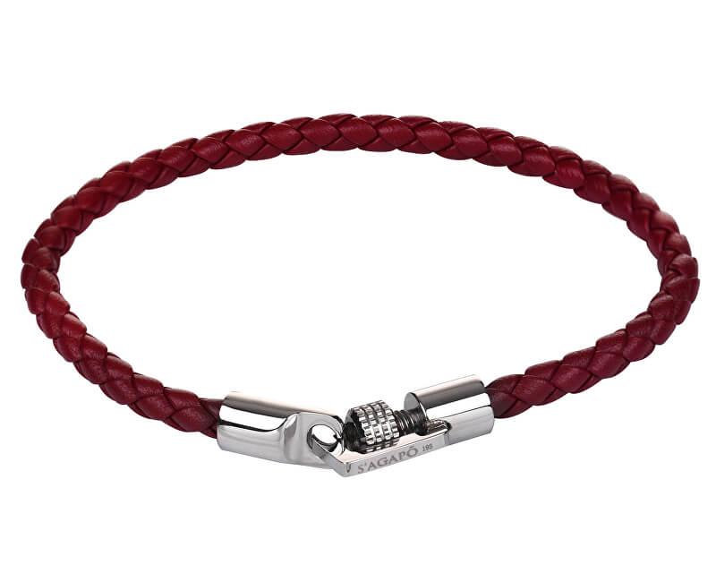 S`Agapõ Red brățară din piele Climber SCM04