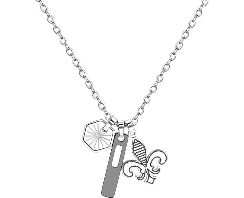 S`Agapõ Pánský ocelový náhrdelník Indie SIN03