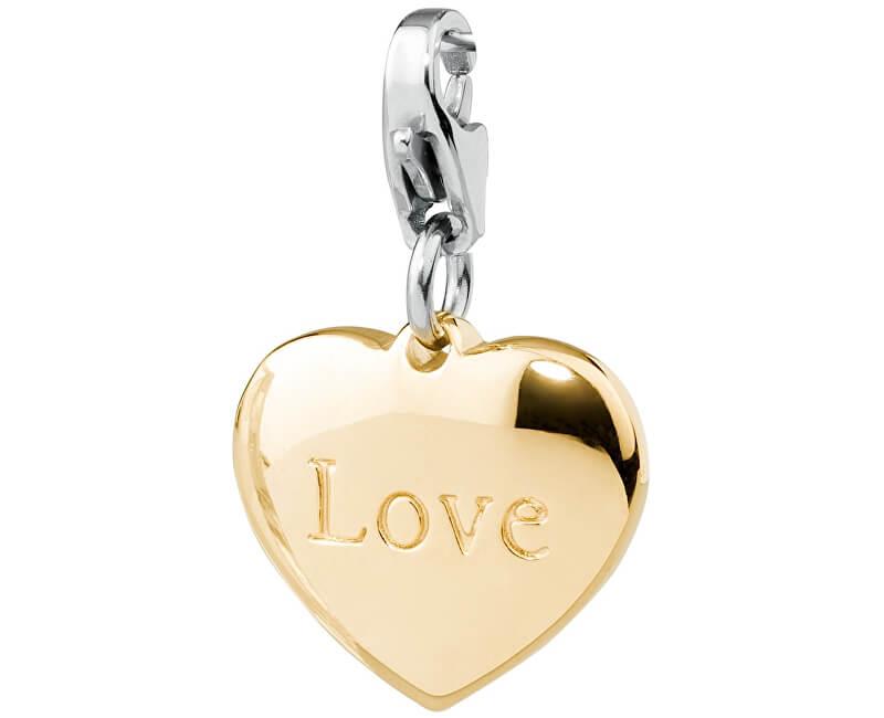S`Agapõ Pandatic placat cu aur Happy Inimă îndrăgostită SHA48