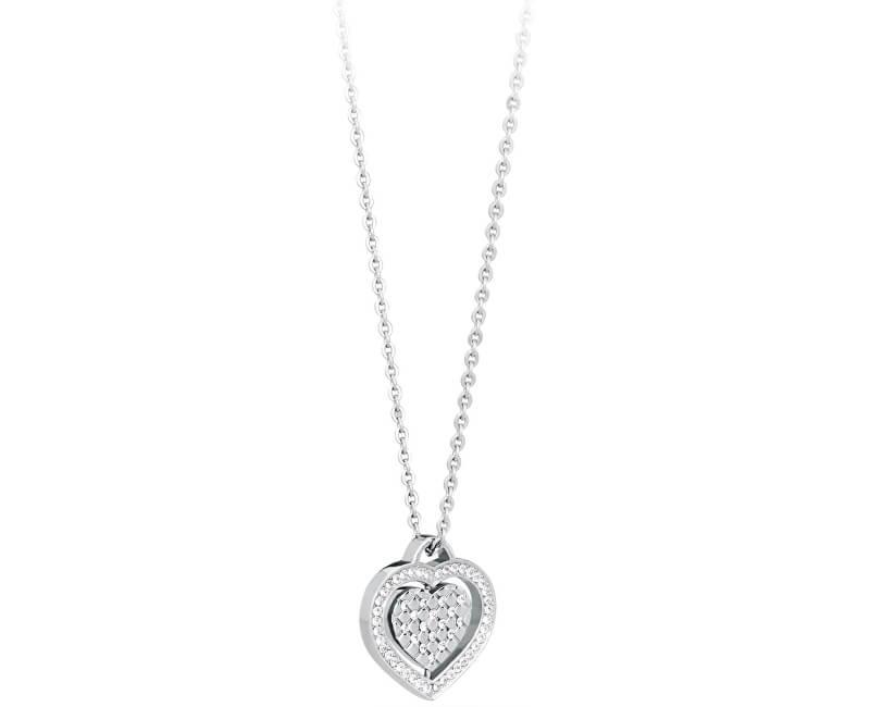 S`Agapõ Colier romantic Heart cu cristale SCN03