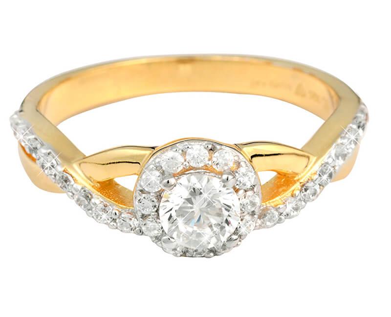 1235ee0b8 Silver Cat Pozlacený stříbrný prsten se zirkony SC239 Doprava ...