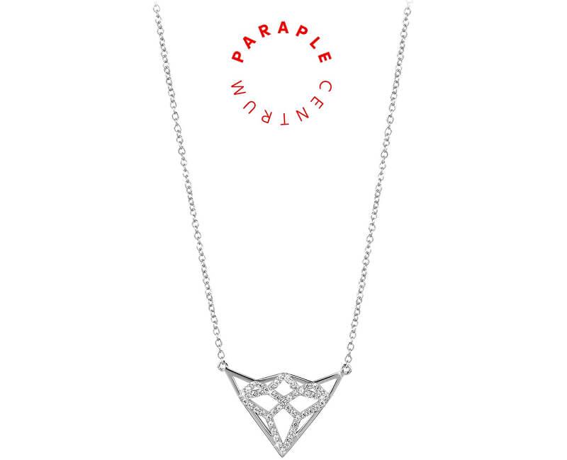 Silver Cat Charitativní stříbrný náhrdelník se zirkony SC292 - CENTRUM PARAPLE