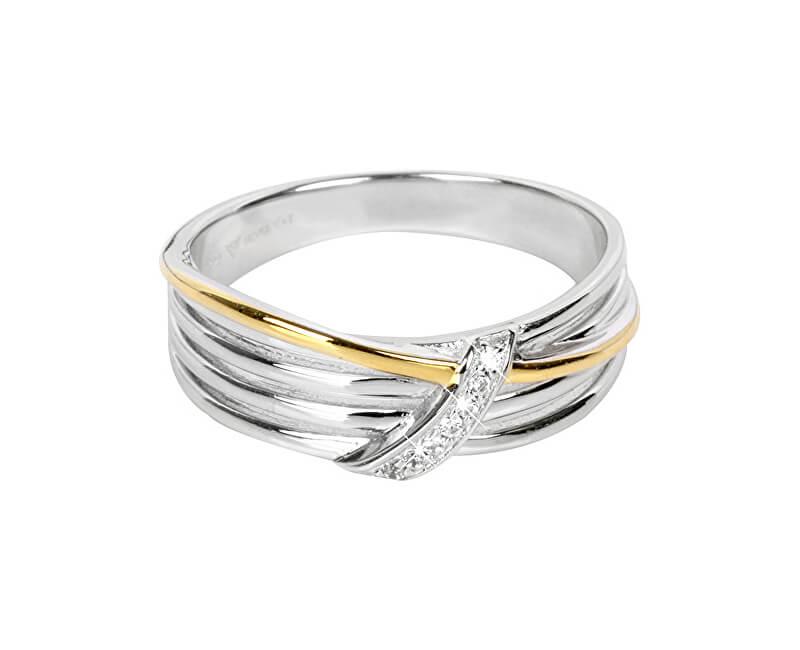 Silver Cat Pozlacený stříbrný prsten se zirkony SC189