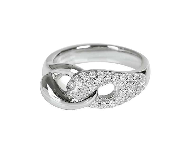6630f39c3f Silver Cat Fonott ezüst gyűrű cirkónia kővel SC073 Ingyenes ...