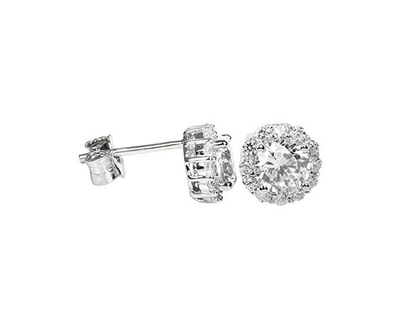 Silver Cat Stříbrné náušnice s krystaly SC159