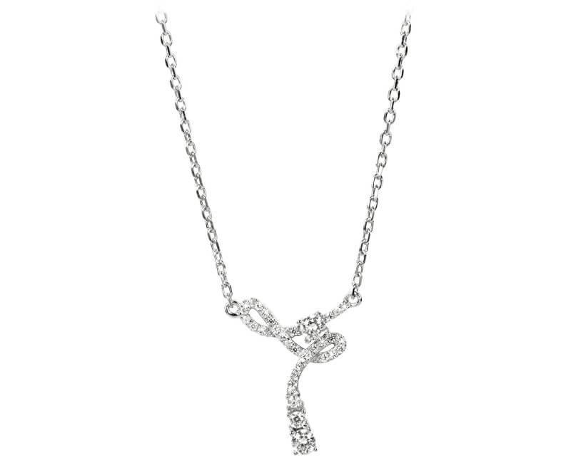 Silver Cat Strieborný náhrdelník so zirkónmi SC237