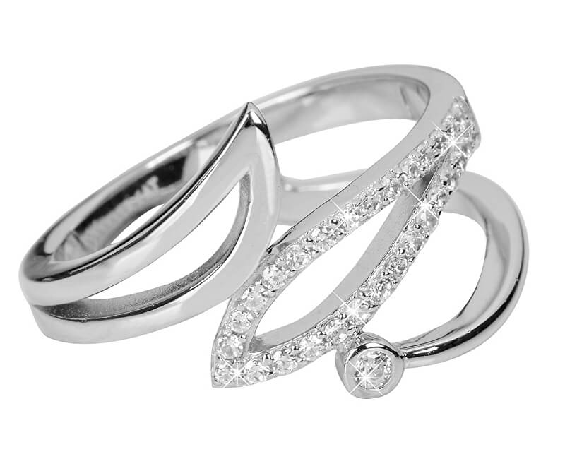 Silver Cat Strieborný prsteň so zirkónmi SC245