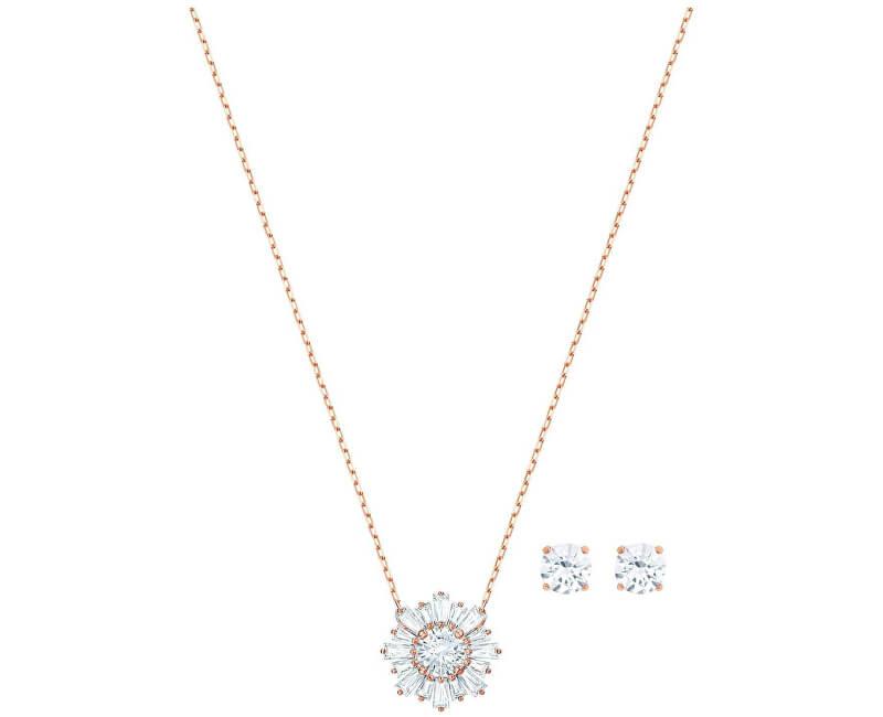 Swarovski Bronzová souprava šperků s třpytivými krystaly SUNSHINE 5480468