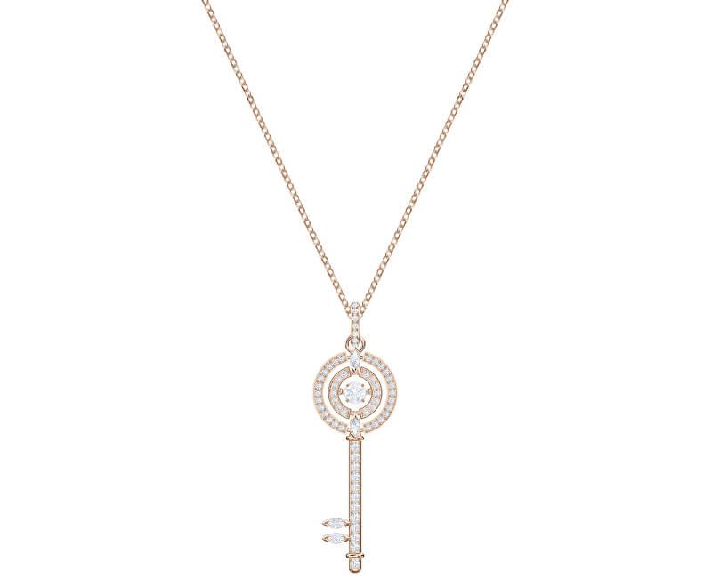 Swarovski Bronzový náhrdelník s klíčem SPARKLING DANCE 5469120