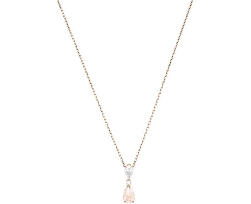 Swarovski Bronzový náhrdelník s třpytivým přívěskem VINTAGE 5457621