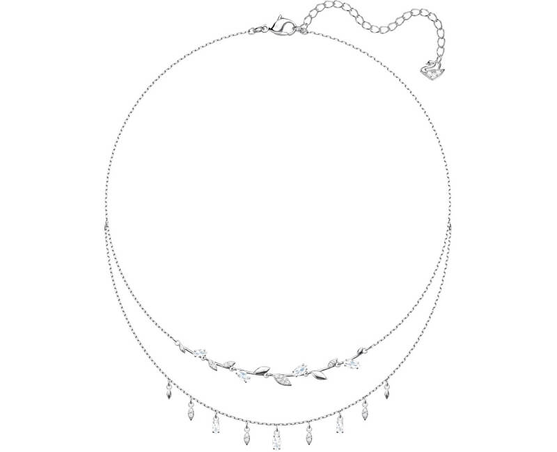 Swarovski Dvojitý náhrdelník s lístečky MAYFLY 5482078