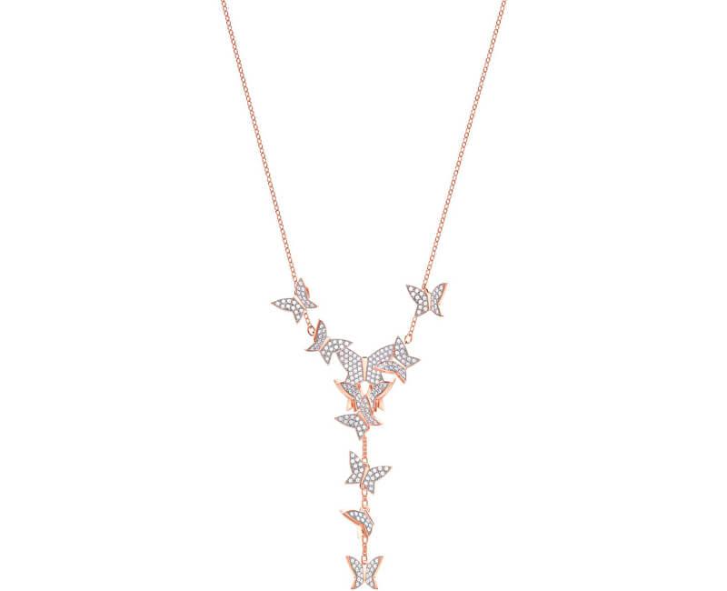 Swarovski Luxusní náhrdelník s motýlky LILIA 5480512