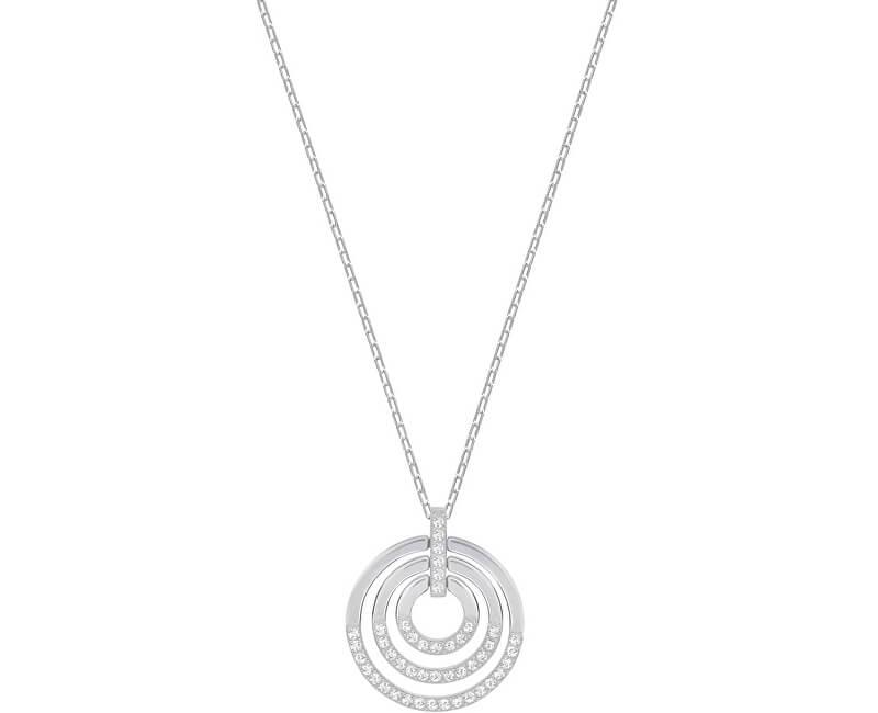 Swarovski Náhrdelník s třpytivým přívěskem Circle 5290187