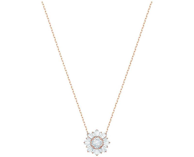 Swarovski Oslnivý bronzový náhrdelník SUNSHINE 5451376