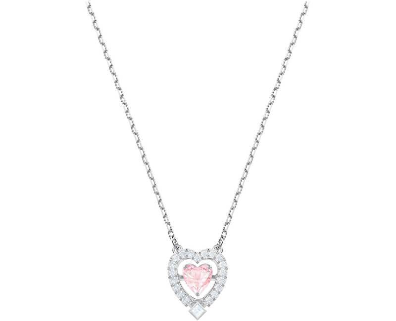 Swarovski Oslnivý náhrdelník SPARKLING DANCE HEART 5465284