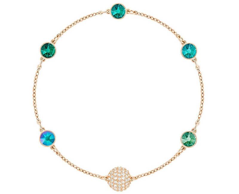 Swarovski Pozlacený náramek se zelenými krystaly REMIX 5412326