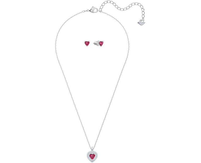 Swarovski Romantická sada srdíčkových šperků ONE 5470602