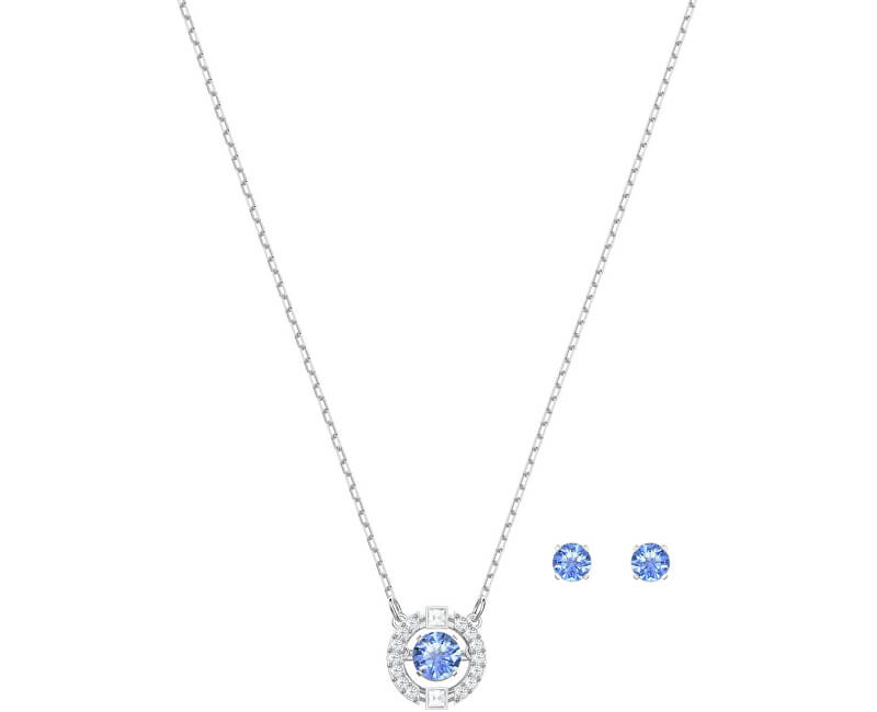 Swarovski Souprava šperků s modrými krystaly SPARKLING DANCE 5480485