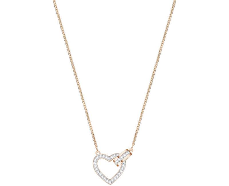 Swarovski Stylový náhrdelník se srdíčkem LOVELY 5368540