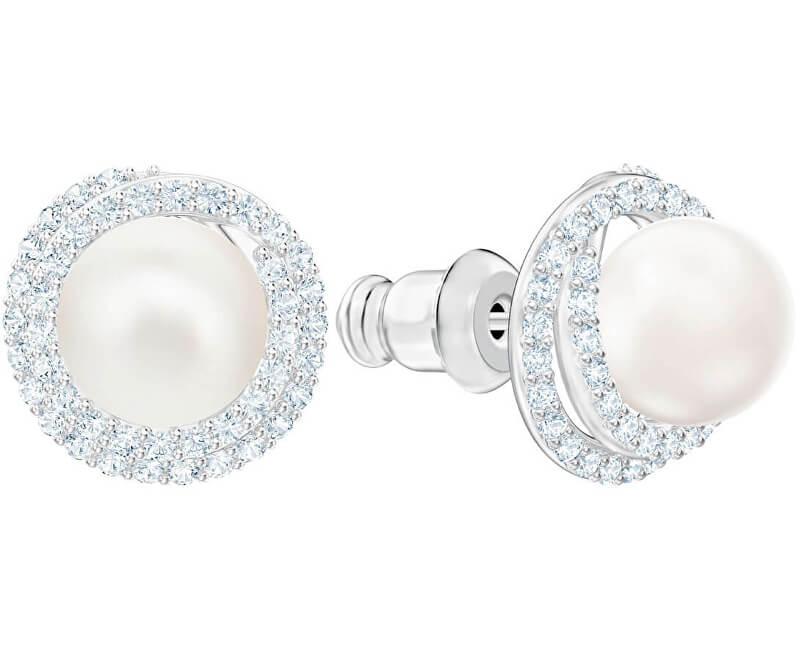 Swarovski Třpytivé perličkové náušnice ORIGINALLY 5461087