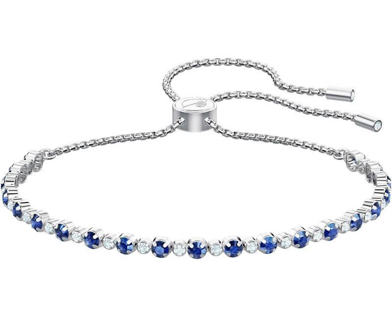Swarovski Třpytivý náramek s modrými krystaly SUBTLE 5465383