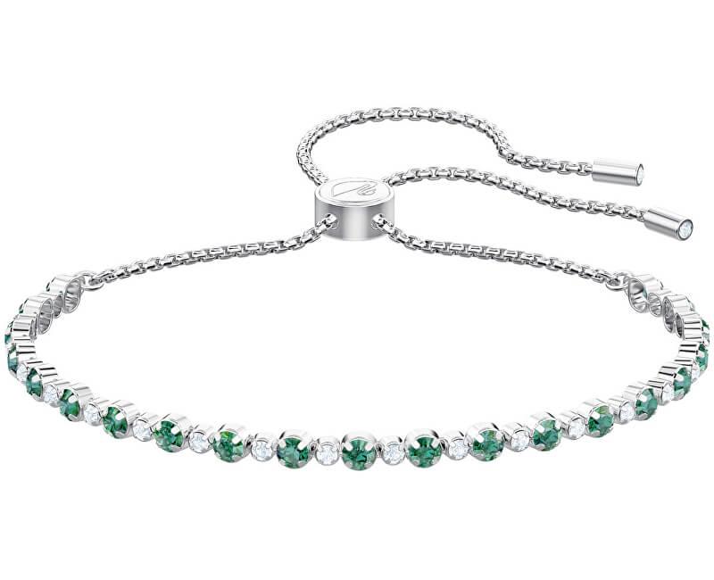 Swarovski Třpytivý náramek se zelenými krystaly SUBTLE 5465355