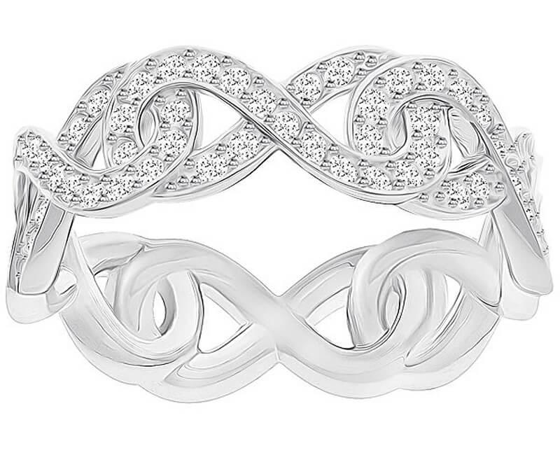 Swarovski Třpytivý prsten INFINITY 5372926