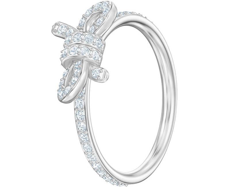 Swarovski Třpytivý prsten s mašličkou LIFELONG 5474934