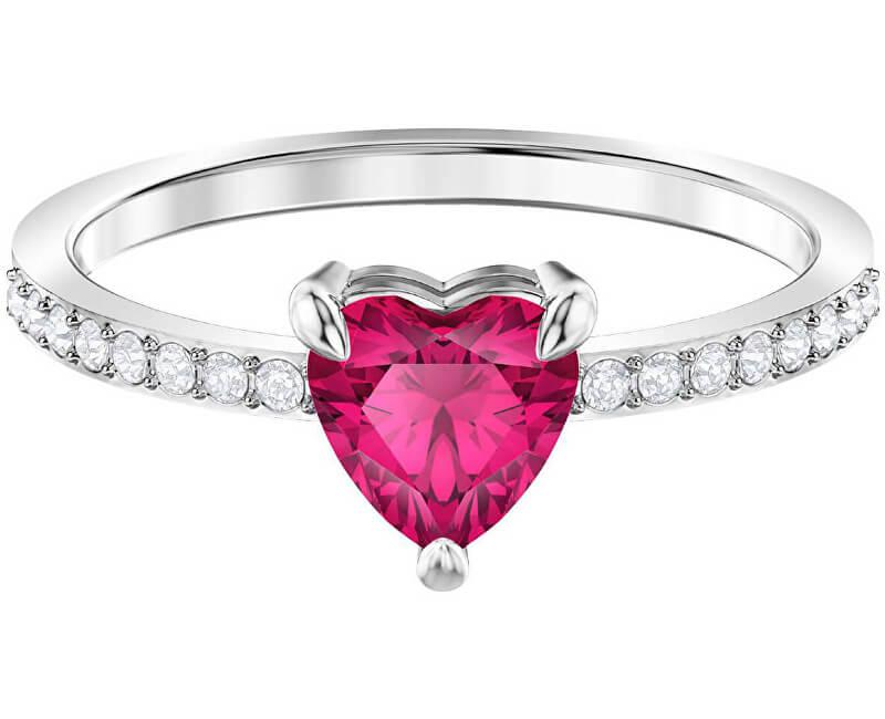 Swarovski Třpytivý prsten se srdíčkem ONE 5474942