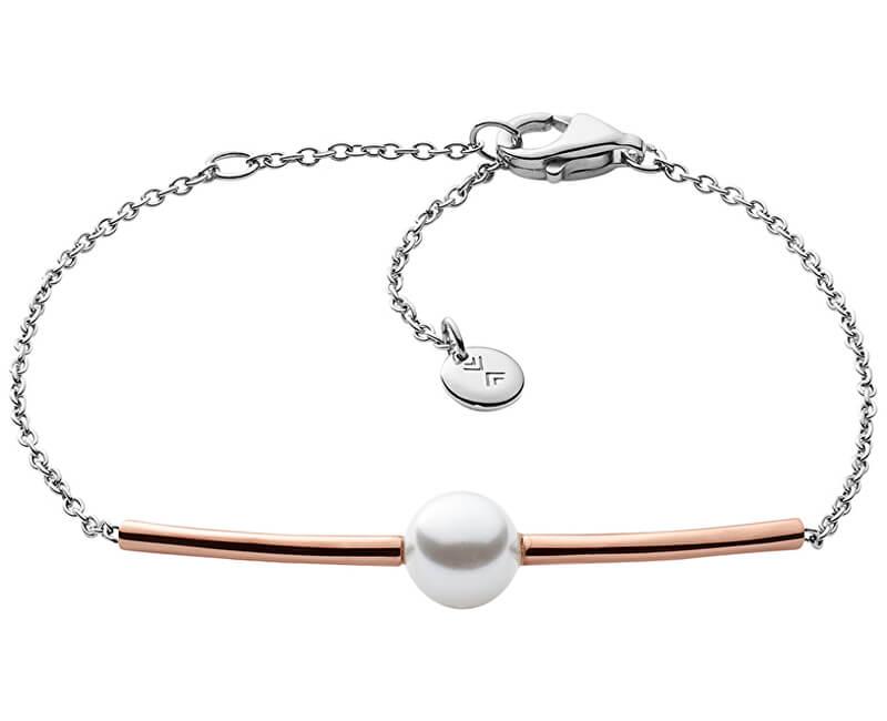Skagen Jemný oceľový náramok s perlou SKJ0918998