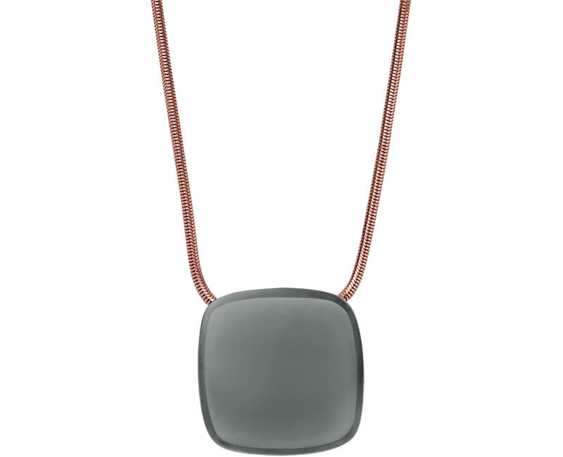Skagen Výrazný bronzový náhrdelník SKJ0873791