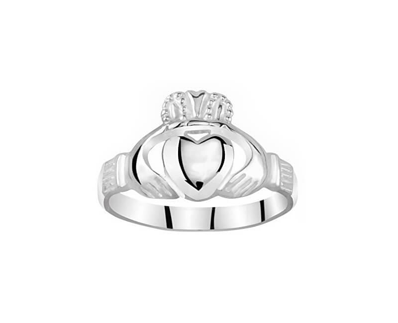 Silvego Dámský celostříbrný prsten Claddagh ZTR96391