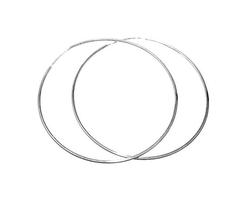 Silvego Stříbrné kruhové náušnice 60 mm BMBE60  3d72ccc02b0