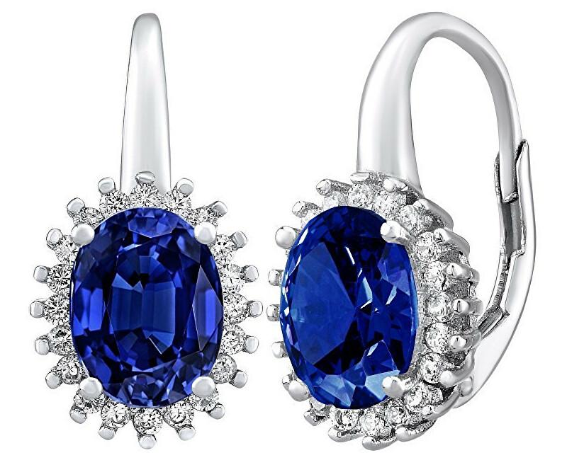 Silvego Cercei argint DHARMA cu safir albastru LPS0588DB