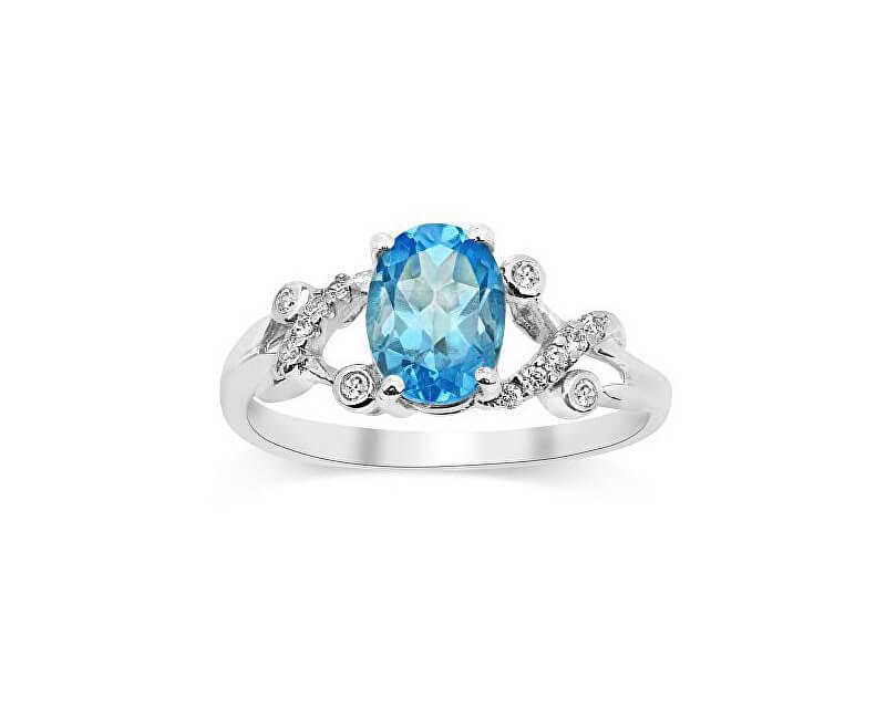 Silvego Stříbrný decentní prsten s topazem Gio Caratti JJJBR24