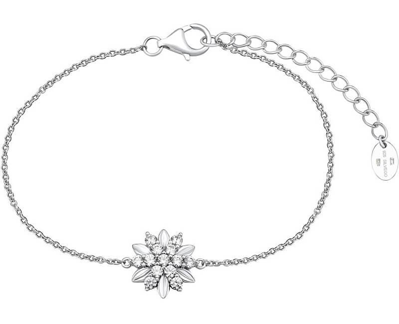 Silvego Stříbrný náramek ALIVIA s krystaly Swarovski MWB10959AA
