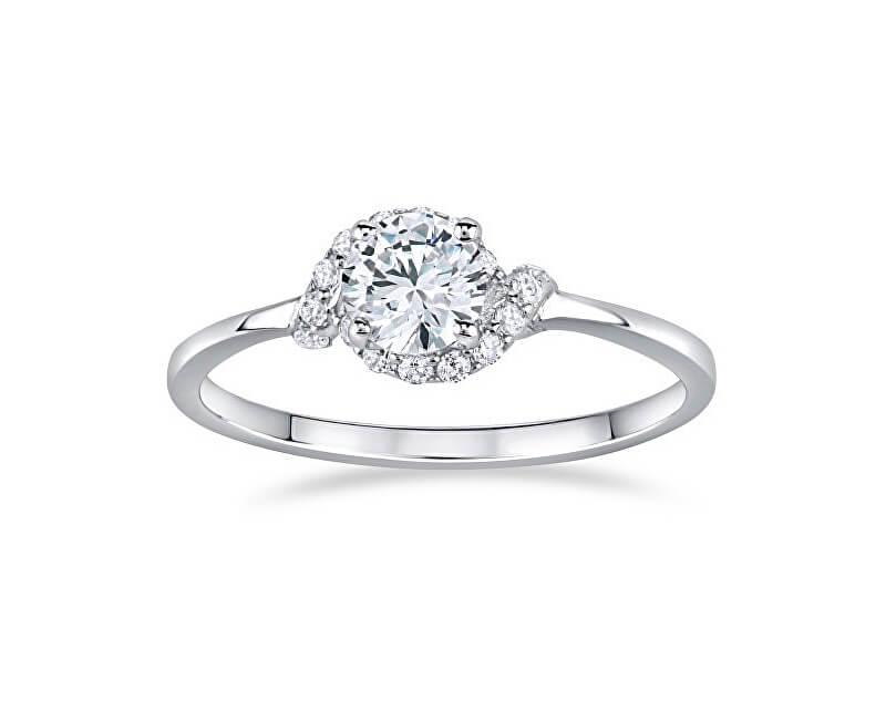 Silvego Stříbrný zásnubní prsten Juliette FNJSM049