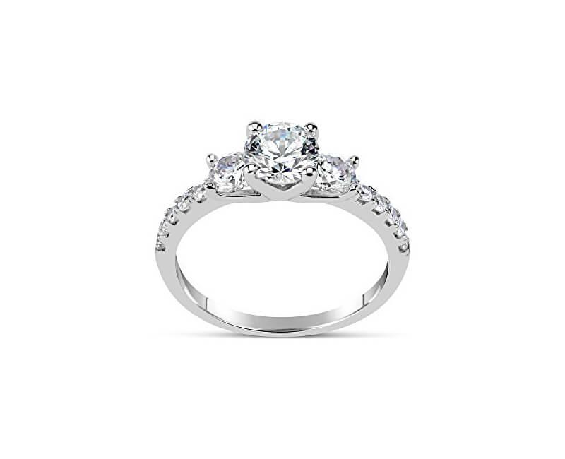 Silvego Zásnubní prsten CLAIRE ze stříbra se Swarovski Zirconia SHZR301