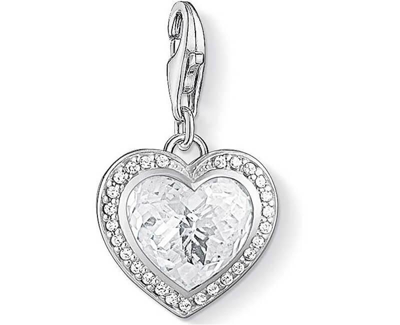 Thomas Sabo Stříbrný přívěsek Třpytivé srdce 1362-051-14