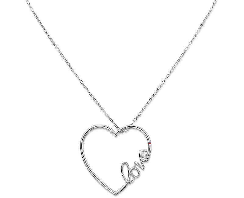 Tommy Hilfiger Dlhý oceľový náhrdelník so srdcom TH2700907