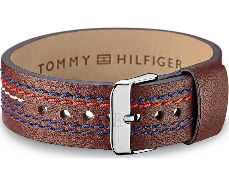 Tommy Hilfiger Hnědý kožený náramek TH2700685